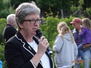 Skoleleder Jette Wase Hansen holdt båltalen